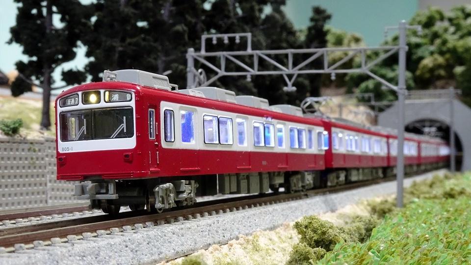 京急800形 旧塗装・丸型ヘッドライト