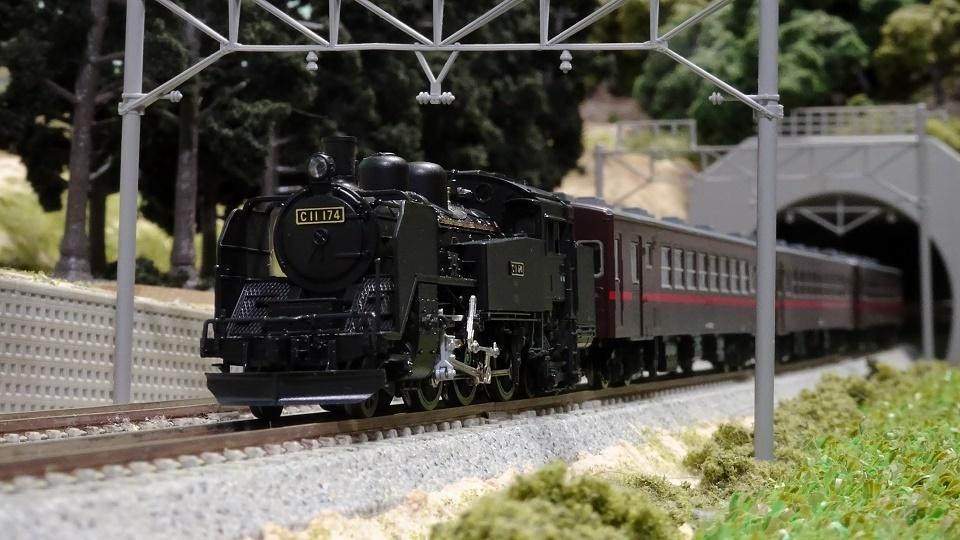 真岡鐵道 C11(325号機)と50系客車(赤帯)