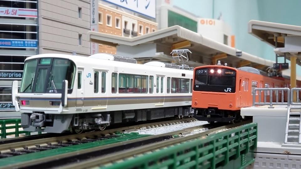 221系 大和路快速 201系大阪環状線