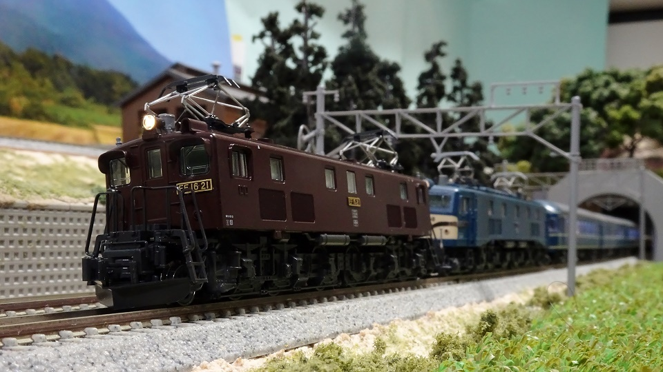 EF58とEF16重連の20系寝台急行「天の川」
